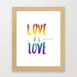 Love is Love - Gay Framed Art Print