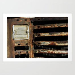Detail Rusted International Truck1. Art Print