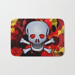 Skull with Bones Bath Mat