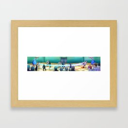 Kuroko no Basuke Panorama Framed Art Print