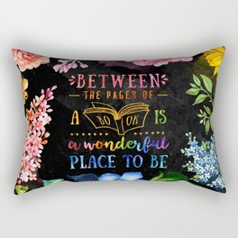 Between the pages - black Rectangular Pillow