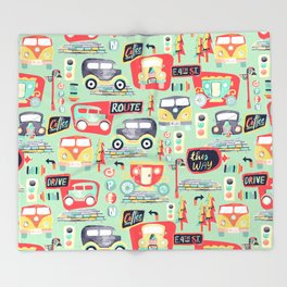 Travel Back in Time Throw Blanket