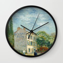 The Restaurant Rispal in Asnières Wall Clock