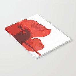 One Red Poppy White Background #decor #society6 #buyart Notebook