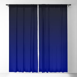 Cobalt blue Ombre Blackout Curtain