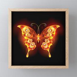 Fire Butterfly Peacock Framed Mini Art Print