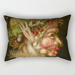 "Giuseppe Arcimboldo ""Four seasons - Summer"" Rectangular Pillow"