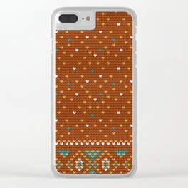 Pattern in Grandma Style #47 Clear iPhone Case