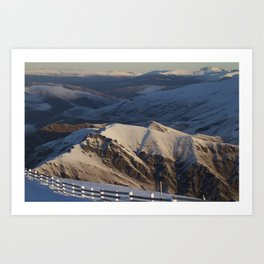 Cardrona Mountains Art Print