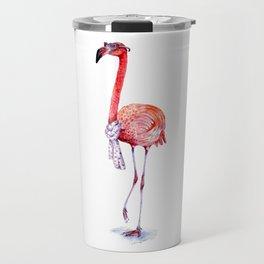 Fashionable  Pink Flamingo Travel Mug