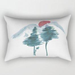 Japanese Alpine Sunset Rectangular Pillow