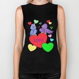 valentines day, lover, love, heart Biker Tank