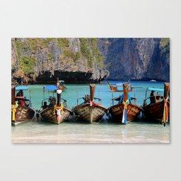 Maya Bay, Phi Phi Islands, Thailand  Canvas Print