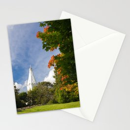 Early Autumn in City Park Stationery Cards