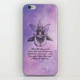 Anais Nin - Tight Blossom iPhone Skin