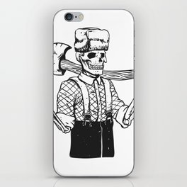 Russian woodcutter skull iPhone Skin