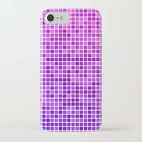 mosaic iPhone & iPod Cases featuring Pink purple mosaic by David Zydd