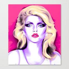 Pop art - stylzed portrait Canvas Print