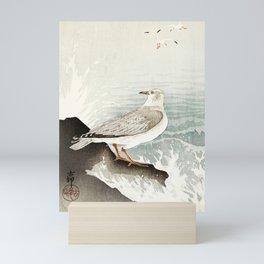 Seagulls at the beach - Vintage Japanese woodblock print Art Mini Art Print
