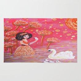 The Swan Girl Rug