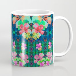 Retro Magic Hawaiian Floral Print Coffee Mug
