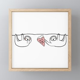 thx 4 hangin' out Framed Mini Art Print