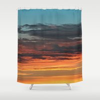 clouds Shower Curtains featuring CLOUDS by Dr. Lukas Brezak