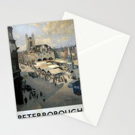 Railwayposter Peterborough Stationery Cards