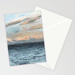 Olympic Mountain Morning Sun Stationery Cards