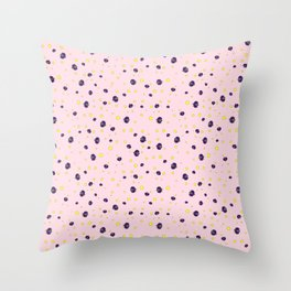 LadyBug in Pink Background Pattern Throw Pillow