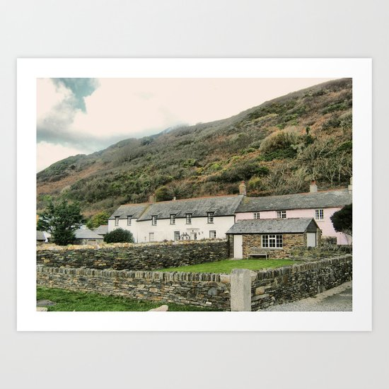 Boscastle  cottages Art Print