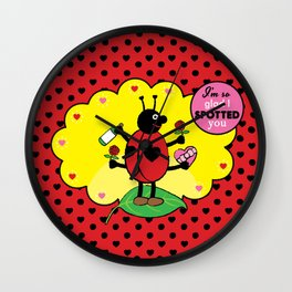 Lovebugs - I'm so glad I spotted you Wall Clock