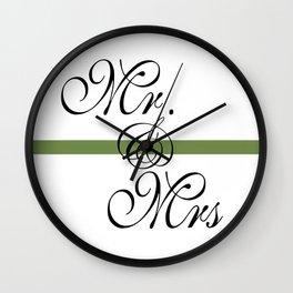 Mr. & Mrs.  Wall Clock