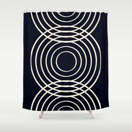 Life Balance Black Shower Curtain