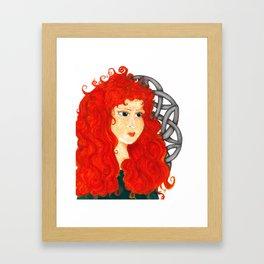 Brave Lass Framed Art Print