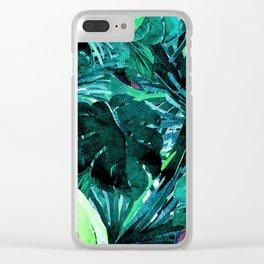 Mystic Palms Clear iPhone Case