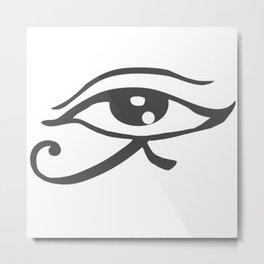 Horus eye, hieroglyphics Metal Print