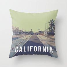 California On the Tracks Throw Pillow