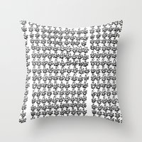 weed Throw Pillows featuring Weed by California Int. Skate