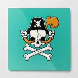 The Pirate Flag Metal Print