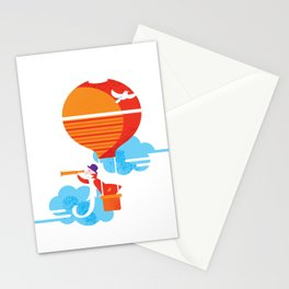Scientist traveler Stationery Cards