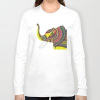 allison argent Long Sleeve T-shirts featuring Allison Elephant by Laura Maxwell