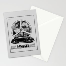 Panhard 1936 classic French art deco auto Stationery Cards