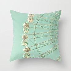 Winter Ferris Wheel  Throw Pillow