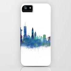 NY New York City Skyline NYC Watercolor art iPhone (5, 5s) Slim Case