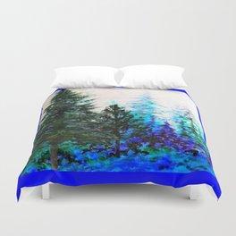 BLUE MOUNTAIN PINES LANDSCAPE Duvet Cover