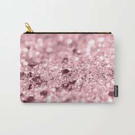 Rose Gold Blush Girls Glitter #1 #shiny #decor #art #society6 Carry-All Pouch
