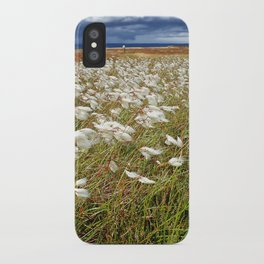 Cotton Grass, North York Moors National Park iPhone Case