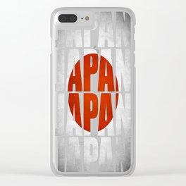 Japan-Flag Clear iPhone Case
