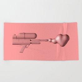 Bubble Gum Gun - Make Love Not War Beach Towel